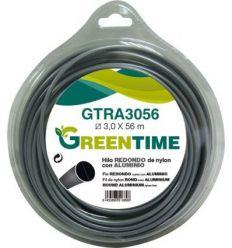 Hilo aluminio redondo gtra3056 3,0mmx56m de green time