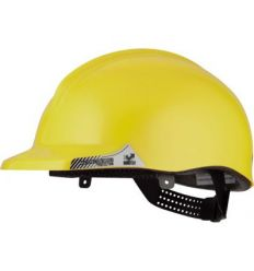 Casco obra ct1 reflectante normal amarillo fluor de nzi
