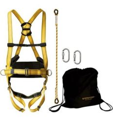 Arnes 80706/069b elbrus+cuerda+mosquetón+bolsa de safetop