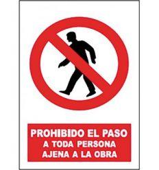 Señal prohibido paso pers.aje.obra sp851 de jg señalizacion