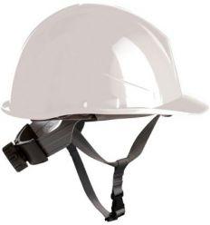 Casco obra con rosca apriete dorsal + barbuquejo 80530 blanco de safetop