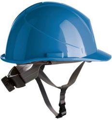 Casco obra con rosca apriete dorsal + barbuquejo 80533 azul roy de safetop
