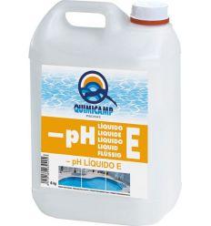 Reductor ph liquido e piscina 6kg 205806 de quimicamp caja de 4 unidades