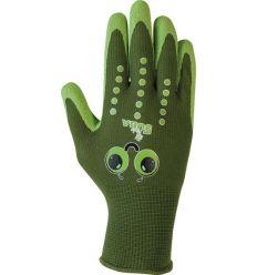 Guante nylon niños h253 talla 8y verde de juba caja de 12 unidades