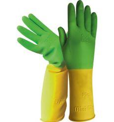 Guante latex niños h264 talla 4y amarillo/verde de juba caja de 12 unidades