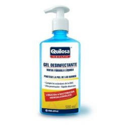 Gel desinfectante con dispensador 44938-500ml de quilosa caja de 12 unidades
