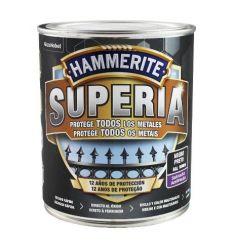 Hammerite superia satinado 750ml negro caja de 6 unidades