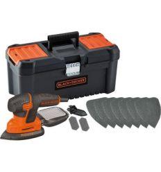Lijadora mouse ka2000ka10qs 120w+accesorios+caja de black & decker