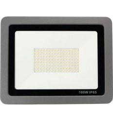 Proyector led gris 100w 8000 lumenes 6500k ip65 de marca
