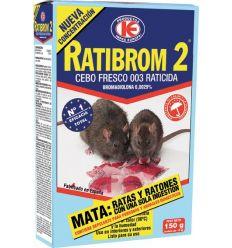 Raticida cebo fresco ratibrom 150gr de impex caja de 36 unidades