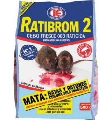 Raticida cebo fresco ratibrom 20x500gr de impex caja de 20 unidades