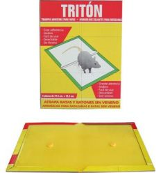 Trampa adhesiva para ratas triton 24,5x18,5 2 unidades de impex