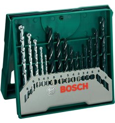 Set 15 brocas mixtas mini-x-line de bosch bricolaje