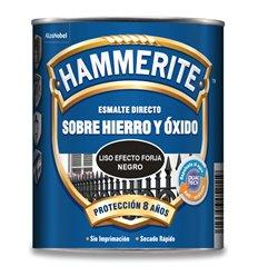 Hammerite liso efecto forja 750ml negro de hammerite caja de 6 unidades