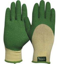 Guante poliester/latex ru.h254g talla 07 verde de juba caja de 12 unidades