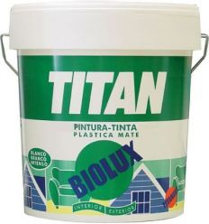 Pintura plastica biolux blanco mate exterior 04l de titan