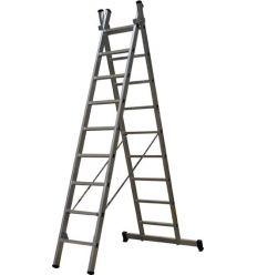 Escalera doble aluminio l66 4,25m 2x9p en-131 de unifersa
